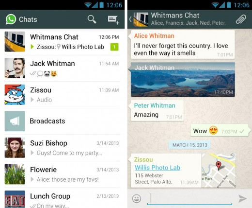 whatsapp 520x428 22 of the best mobile messaging apps to replace SMS on your smartphone