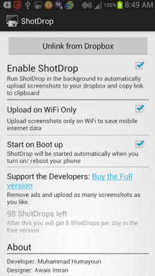 Capture 220x391 ShotDrop lets you share Android screenshots instantly