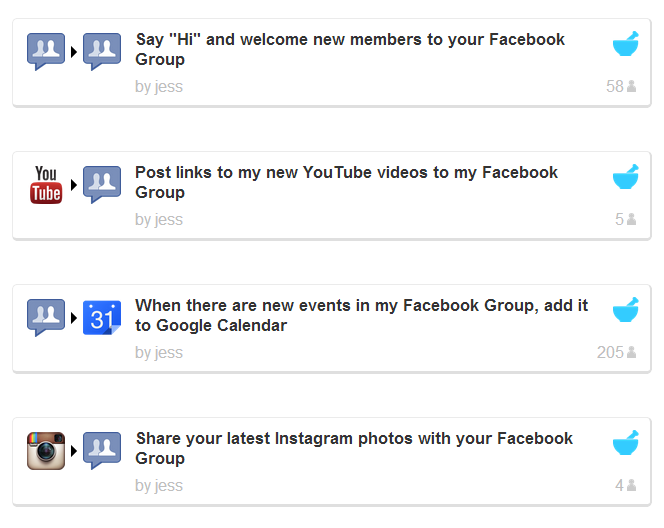 IFTTT Introduces Facebook Groups Channel for Easier Sharing