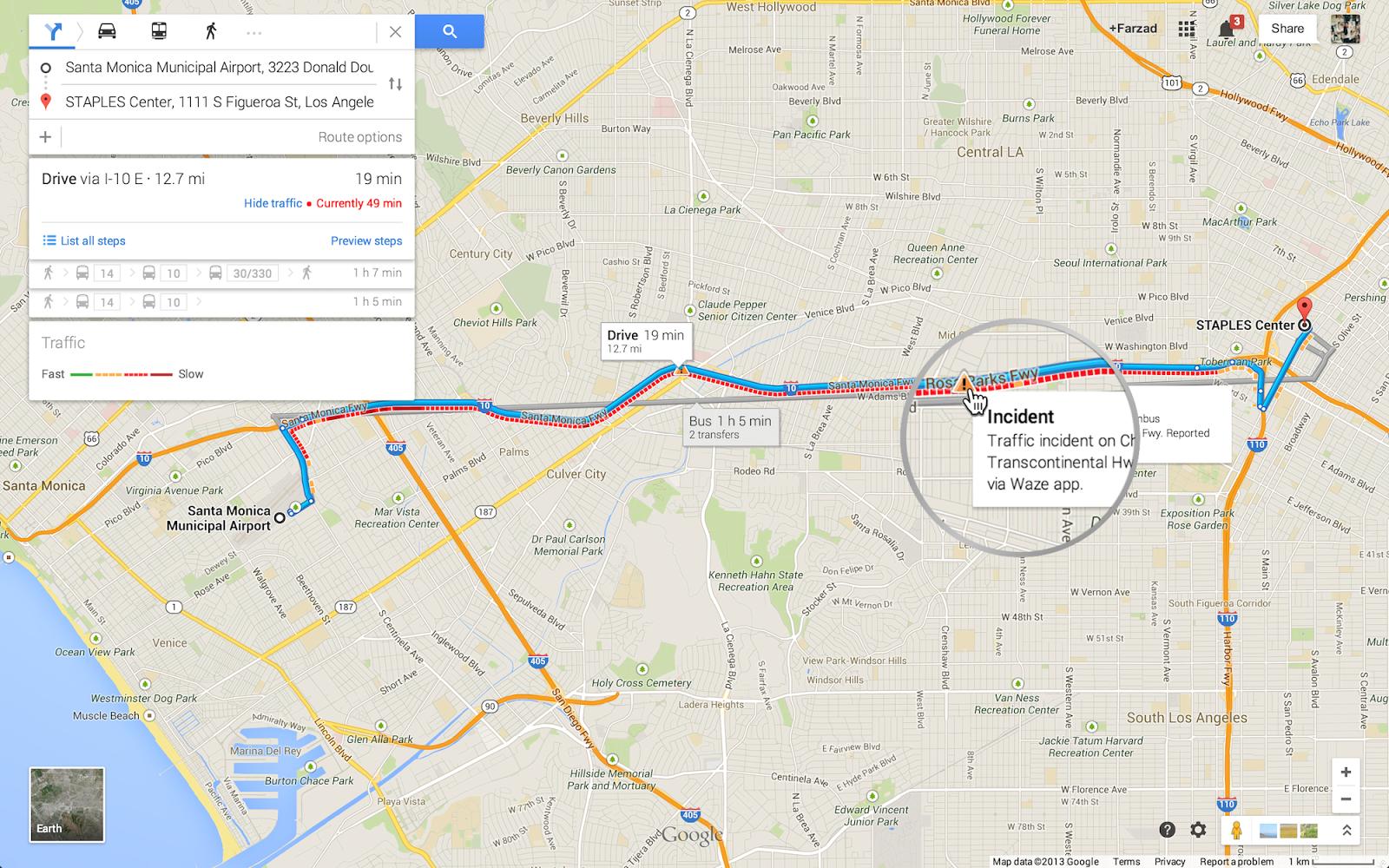 google maps gets earth tours  waze traffic incident reports