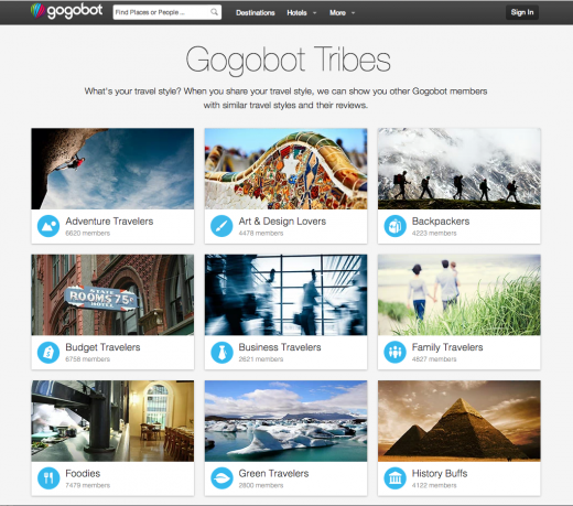 Gogobot Tribes Main12 520x459 Gogobot adds personalized recommendations to its social travel network