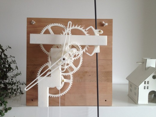3D printed Minimalist mechanical clock