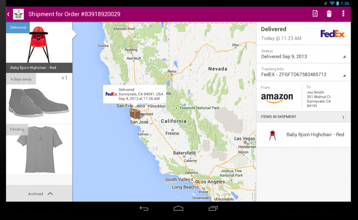 Slice now lets you track all your online purchases from your Android tablet