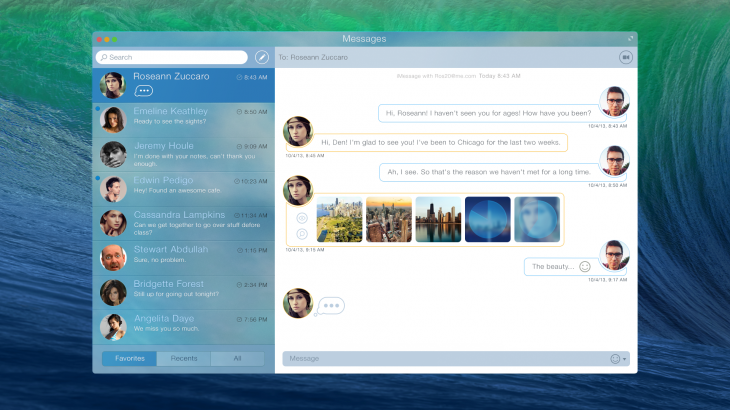 Messsages OSX 1 730x410 Check out this design concept for Apples Messages app on OS X    youd wish it were real