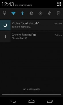 It displays a permanent notification while a profile is active, so you can turn it off manually if you wake up early.