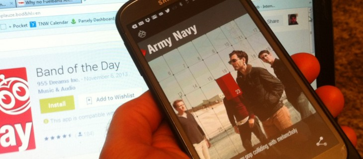 Band of the Day hits Android to help you keep your finger on the pulse with one new artist each day