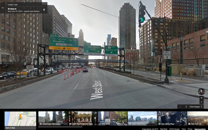 Preview your route with Street View