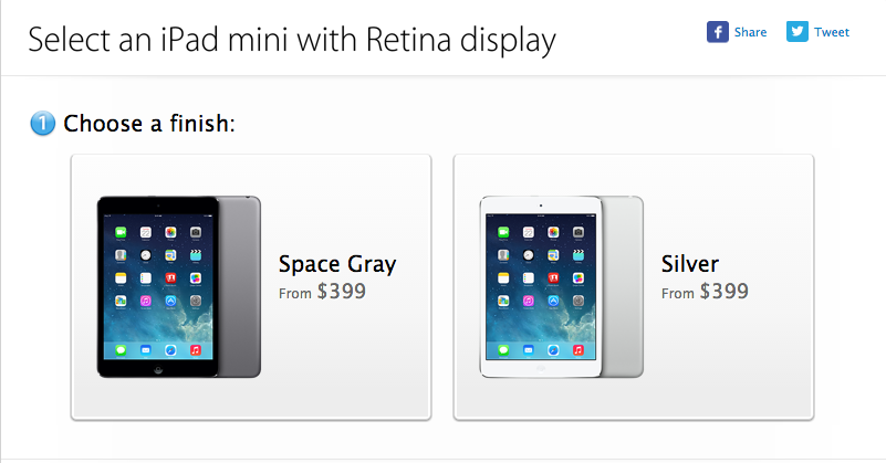 Apple's iPad Mini Retina Is Now Available From $399