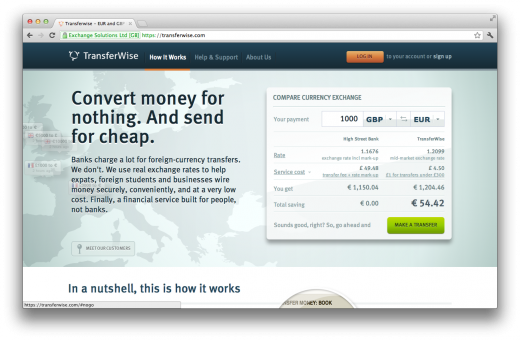 TransferWise 520x340 10 ways to pay without ever whipping out your wallet