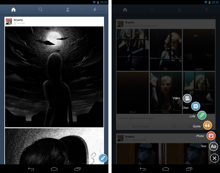 Tumblr1 30 of the most beautiful and well designed Android apps