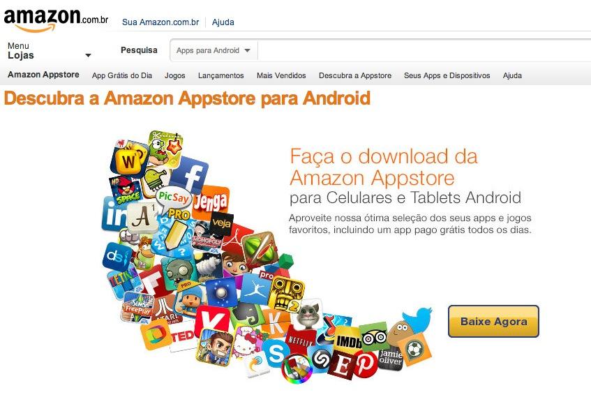 amazon app store brazil