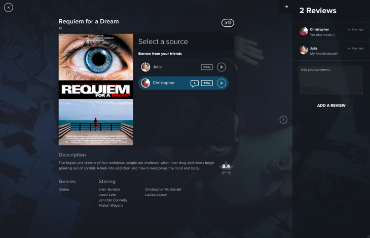 b1 730x470 Streamnation lets you lend movies and TV shows to friends directly from the cloud