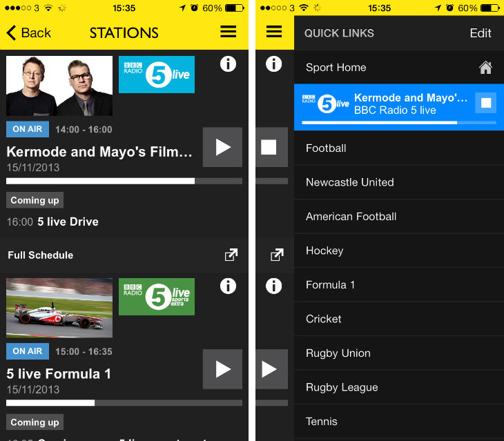 bbcsport BBC Sport app for Android, iOS and Kindle Fire updated with integrated BBC Radio 5 Live player