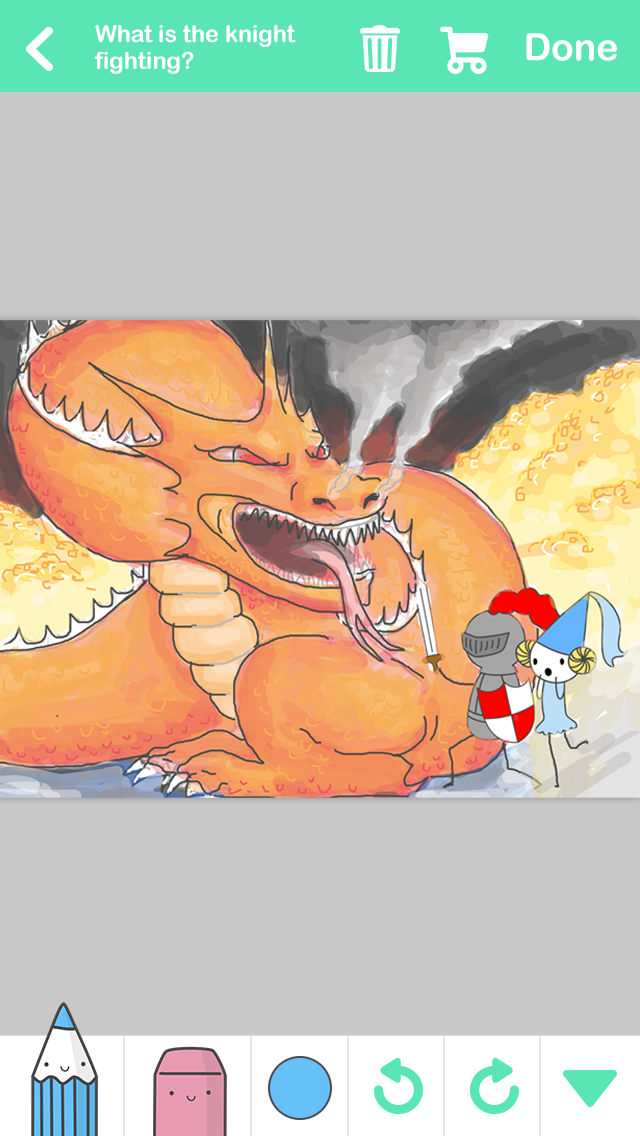 Scribble Drawing Quest : Drawquest arrives on the iphone with user generated challenges