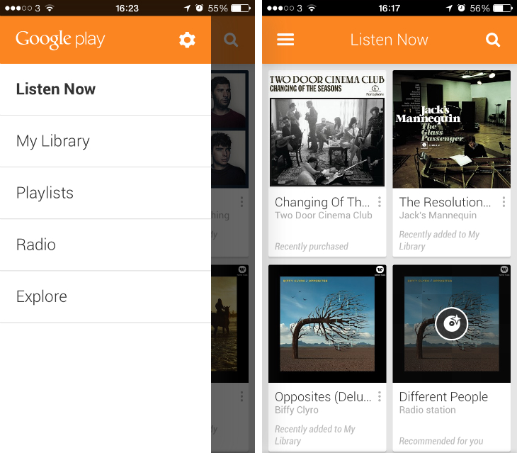 Google Play Music On IOS Also Supports All Access, The Companyu0027s $9.99 Per  Month On Demand Streaming Service. You Canu0027t Upgrade To All Access Within  The App ...