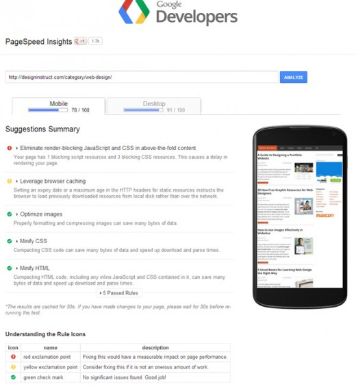 google dev 520x568 5 free online tools for testing your websites speed