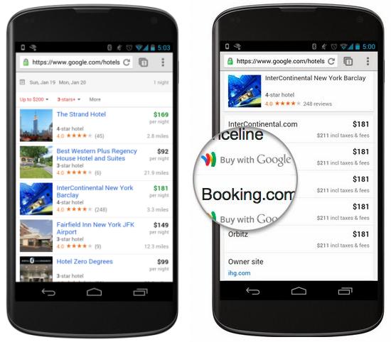 Google brings its hotel finder service to smartphones for Google hotes