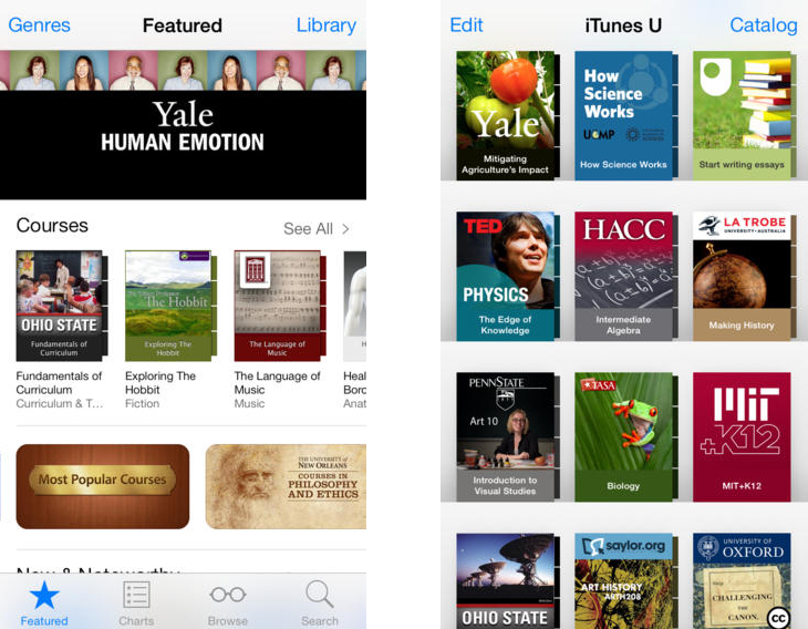 ibooks1 Apple updates iBooks and iTunes U apps with iOS 7 redesigns