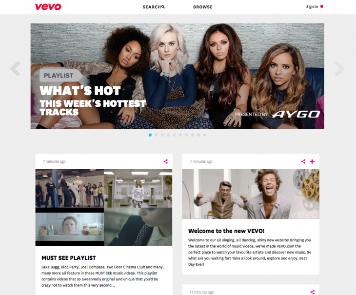 VEVO launches a 'complete ground-up rebuild' of its pop music video site for the Web and ...