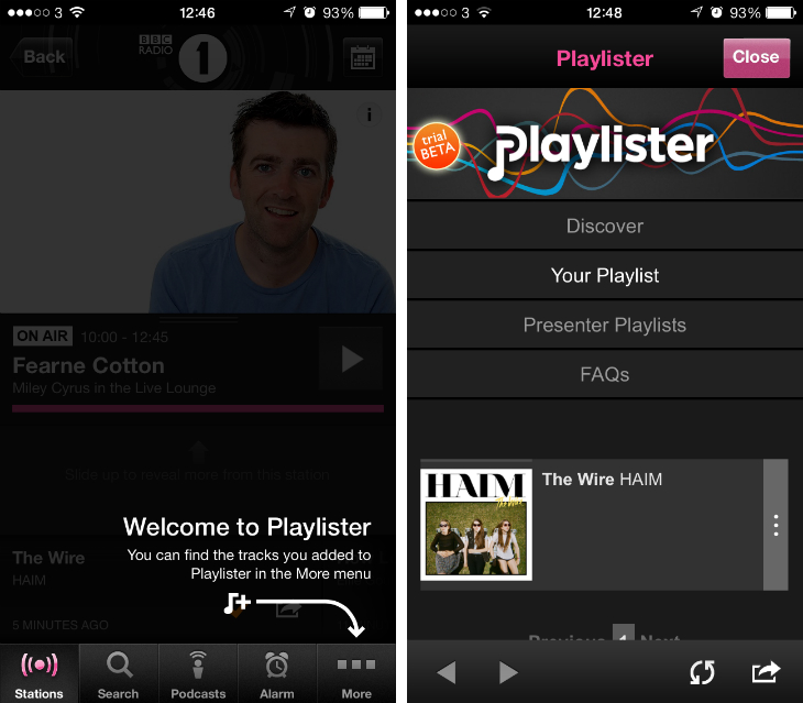 iplayerradio The BBCs save it for later Playlister service is now available in the iPlayer Radio mobile apps