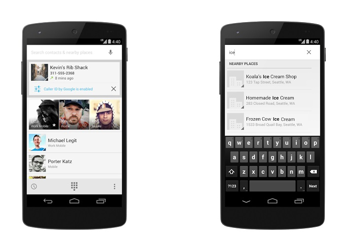 Android KitKat Adds Google-Powered Caller ID