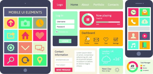 mobile interface 520x253 10 Web design trends you can expect to see in 2014