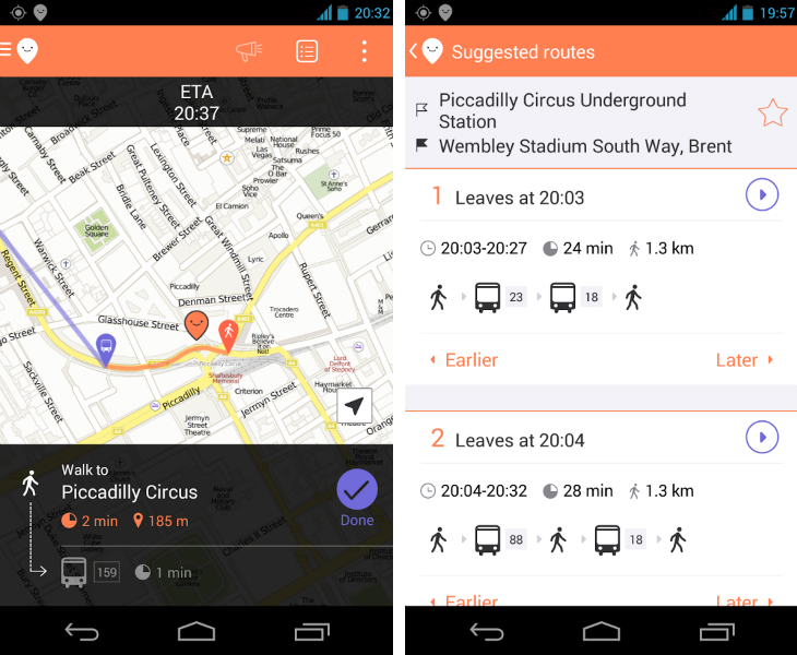 Moovit redesigns its public transit app on Android, adds