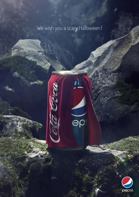 Halloween Creative Ads.Pepsi Won Halloween With This Clever Ad