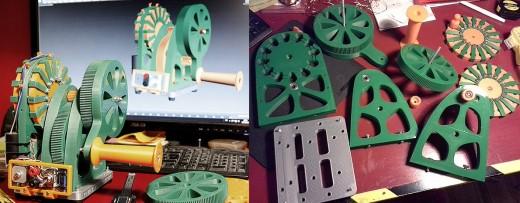 3D printed Hand-cranked power generator