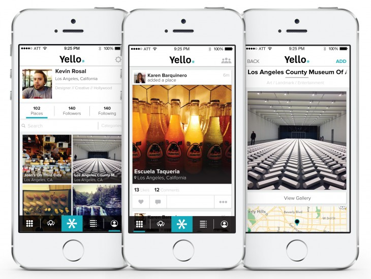 yello big 730x550 Yello: An app for sharing, and finding, your favorite places