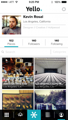 yello profile 220x390 Yello: An app for sharing, and finding, your favorite places