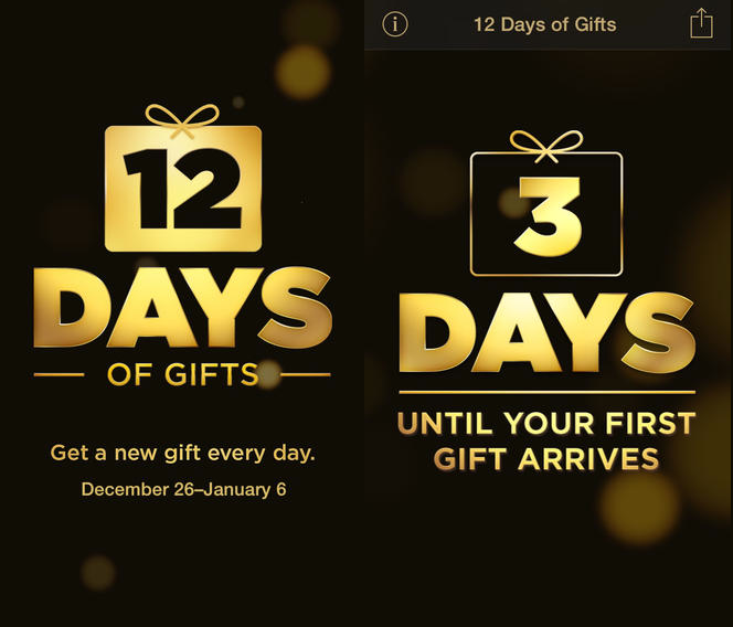 Apple\'s 12 Days Of Gifts App Lands In App Store