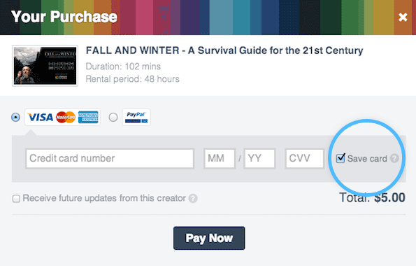 12 10 Saved Billing Vimeo On Demand gets content ratings and faster checkout with option to save billing info