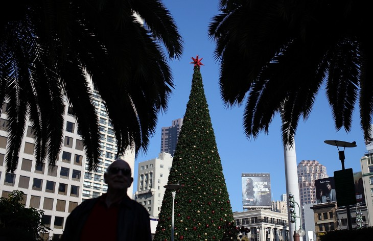 Here's what a quadcopter and GoPro camera captured on video in San Francisco this Christmas