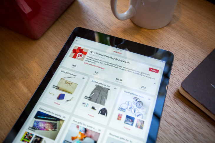 Pinterest redesigns its iPad app for iOS 7 with a new menu, long-press board sharing and discovery