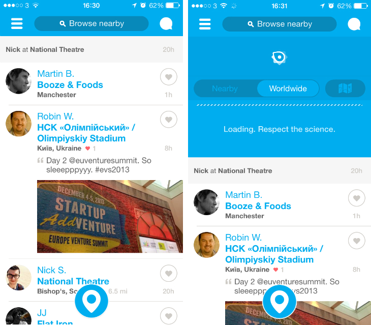 4sq Foursquare gets a massive redesign for iOS 7 and smart recommendations via push notifications