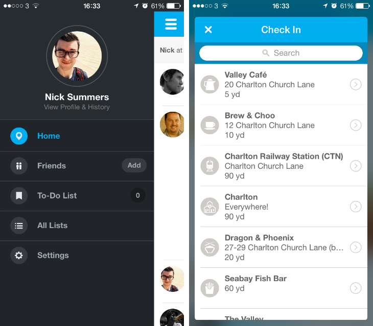 4sq2 Foursquare gets a massive redesign for iOS 7 and smart recommendations via push notifications