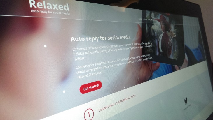 Relaxed will automatically respond to Twitter and Facebook messages on your behalf this Christmas