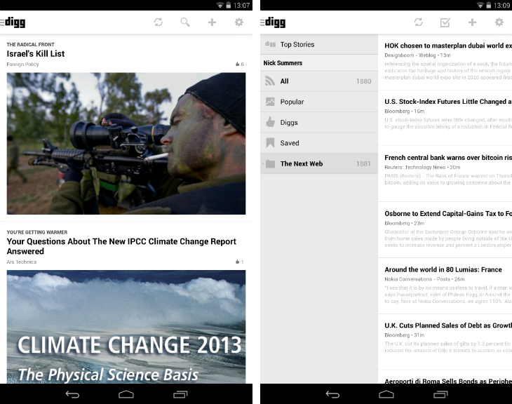 Digg1 10 must have Android apps for keeping on top of the news