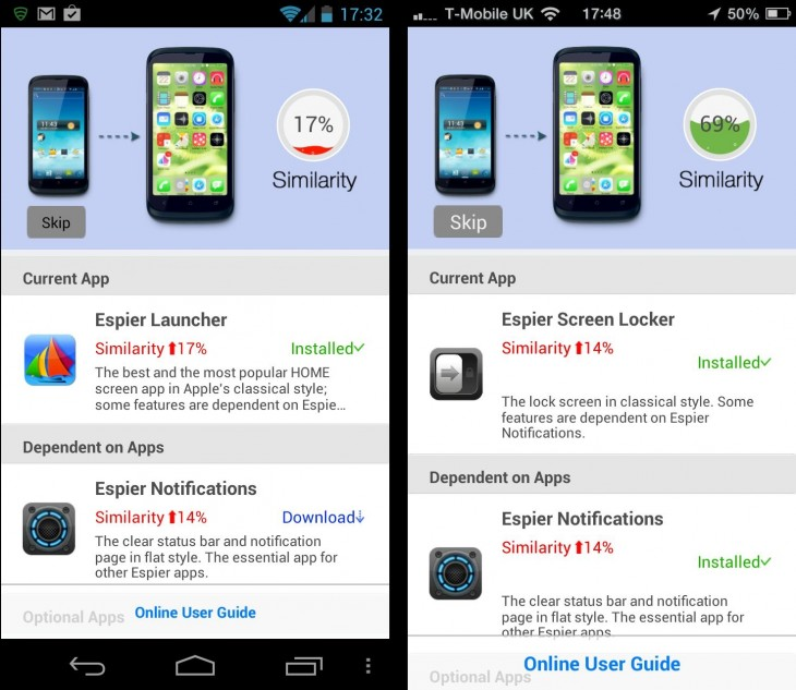 Espier similarity 730x633 11 of the best Android launchers and home screen replacements you can download today