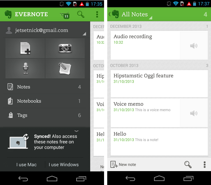 Evernote1 So you've just got an Android device? Download these apps first