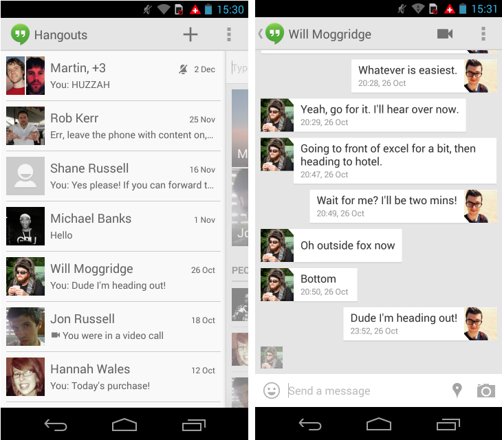Hangouts sexting