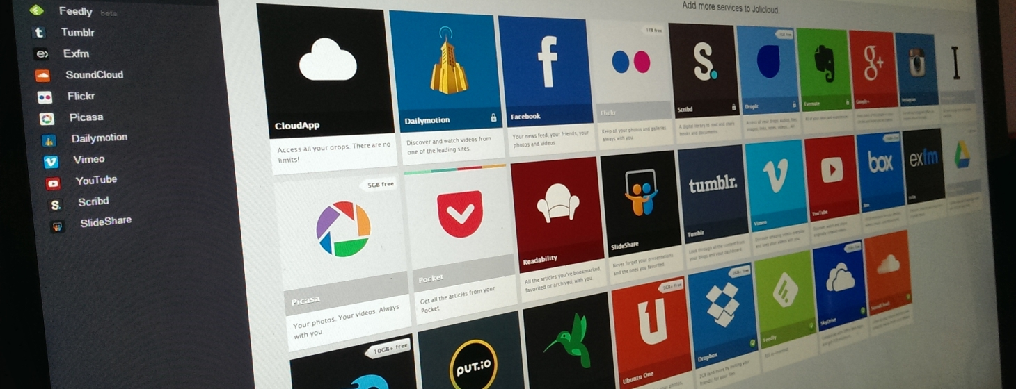 Cloud Services Aggregator Jolicloud 2 Arrives with Combined Drive and Home, Feedly Integration