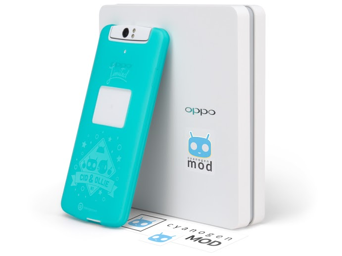 N1 CyanogenMod1 Oppo N1 CyanogenMod Limited Edition now available for $599/€449 from the OppoStyle webstore