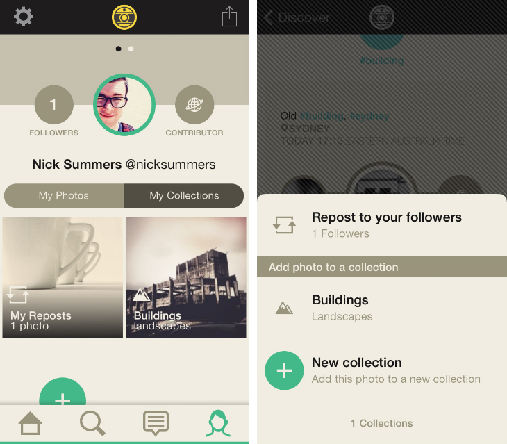 Oggl1 Hipstamatics Oggl for iOS app gets an Instagram feed, Pinterest style Collections and Discovery tab