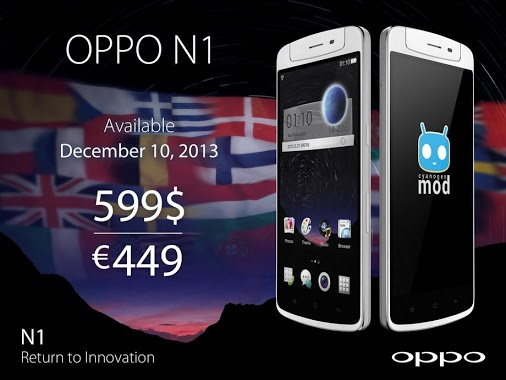 Oppo N1 Oppo's N1 Android smartphone goes on sale December 10 in US and Europe for $599/€449