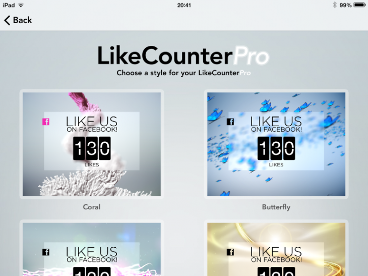 Photo 03 12 2013 20 41 53 730x547 Like Counter Pro: This iPad app displays your companys Facebook Page Likes in real time