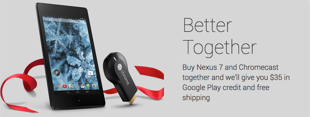 Screen Shot 2013 12 10 at 12.45.09 PM Google offers free shipping and $35 in Google Play credit when you buy a Nexus 7 and a Chromecast in the US