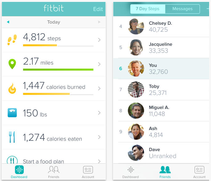 how to link fitbit to iphone fitbit s ios app update turns your iphone 5s into a 18897
