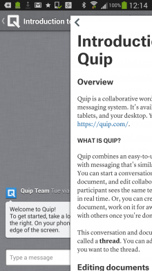 Screenshot 2013 12 05 12 14 35 220x391 Quip, ex Facebook CTO Bret Taylors collaborative word processing app, officially arrives for Android